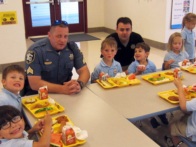 Little Pearl Elementary School - NSLW Police Lunch Guests