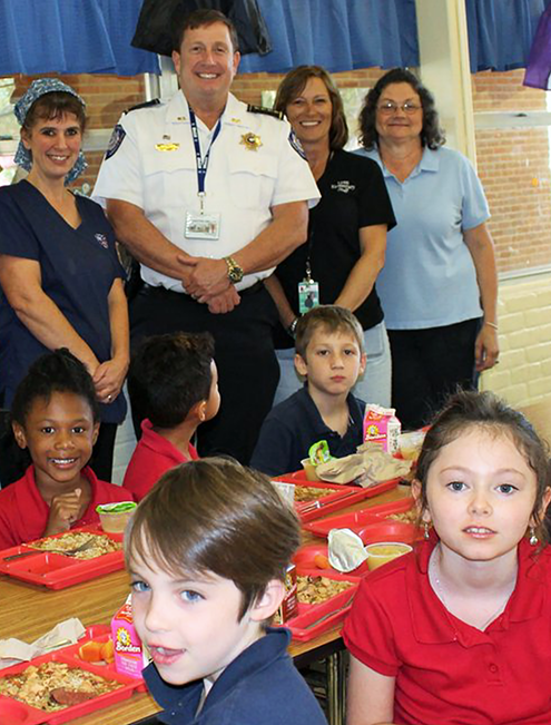 Lyon Elementary School - NSLW Sheriff Lunch Guests