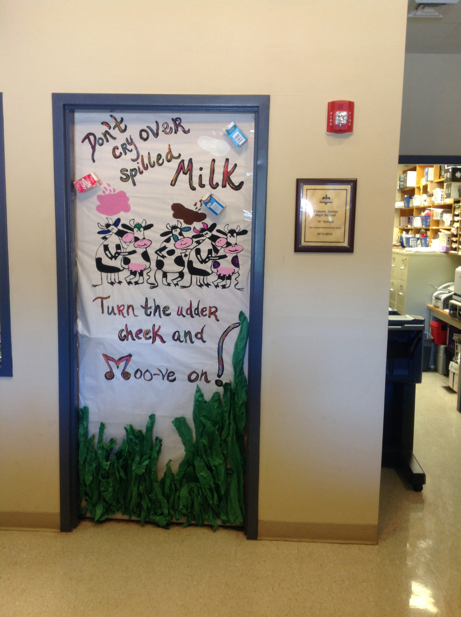 Folsom Jr. High School's Milk Day Door Decorating Contest Image 1