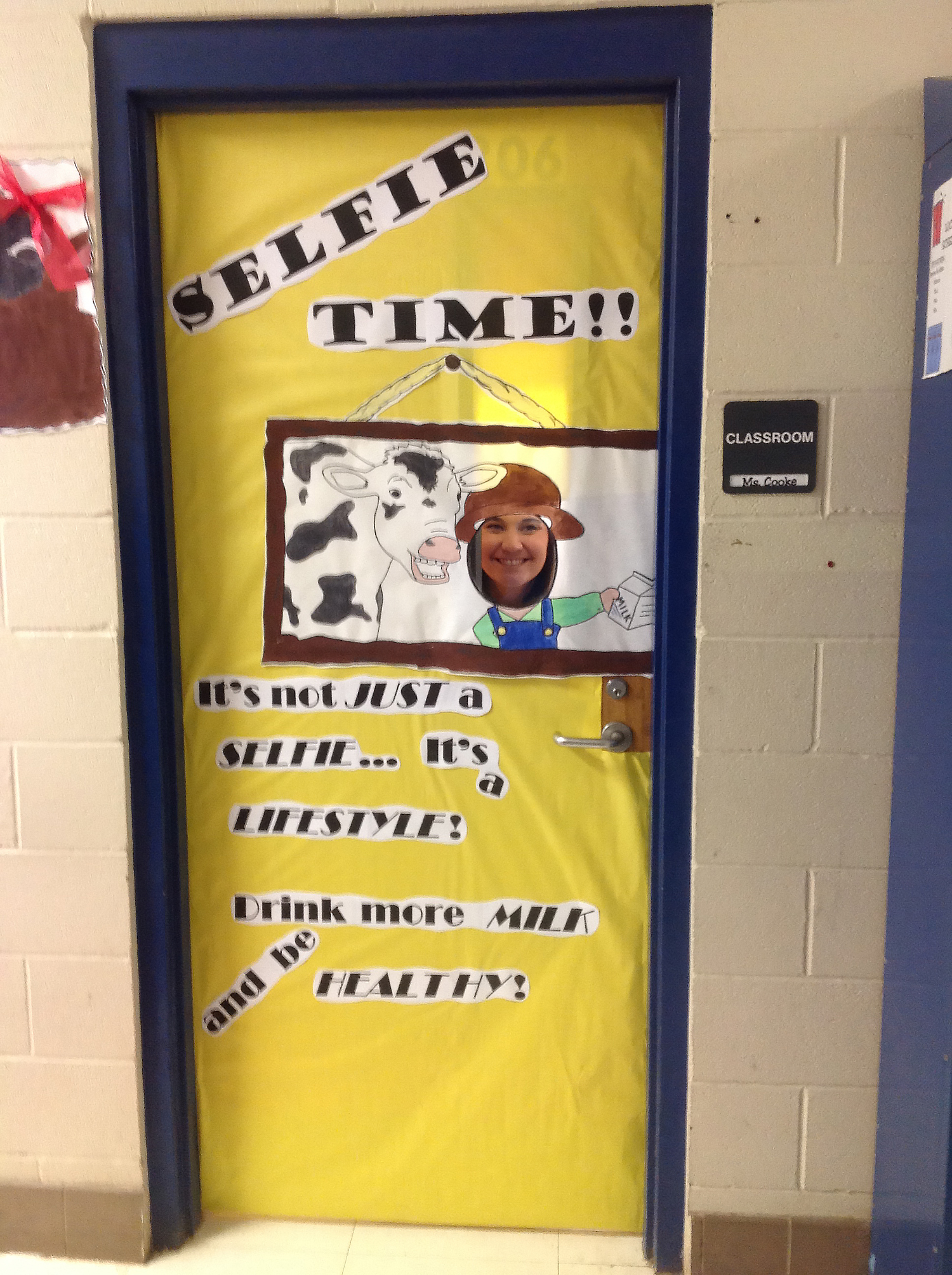 Folsom Jr. High School's Milk Day Door Decorating Contest Image 2