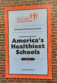 Cottonport Elementary School's America's Healthiest School Winners Sign