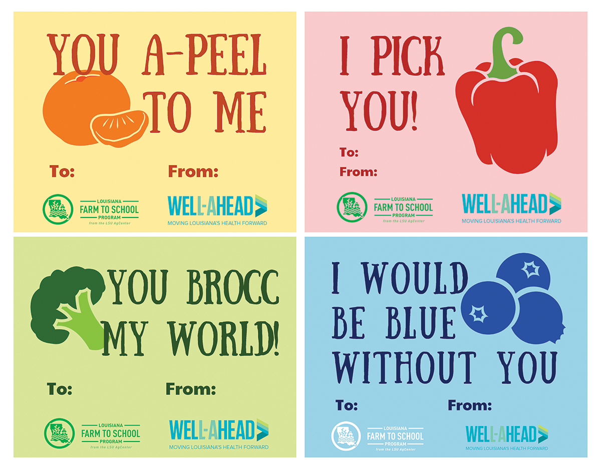 Louisiana Farm to School Valentines