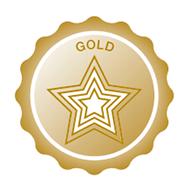 Gold Achievement Badge Graphic