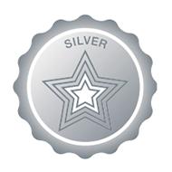 Silver Achievement Badge Graphic