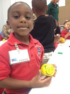 A Jutland Head Start Student Showing His Decorated Satsuma