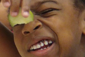 Jutland Head Start Students Tasting Cucumbers