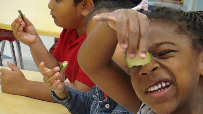 Jefferson Parish Schools - Jutland Head Start Students Tasting Cucumbers