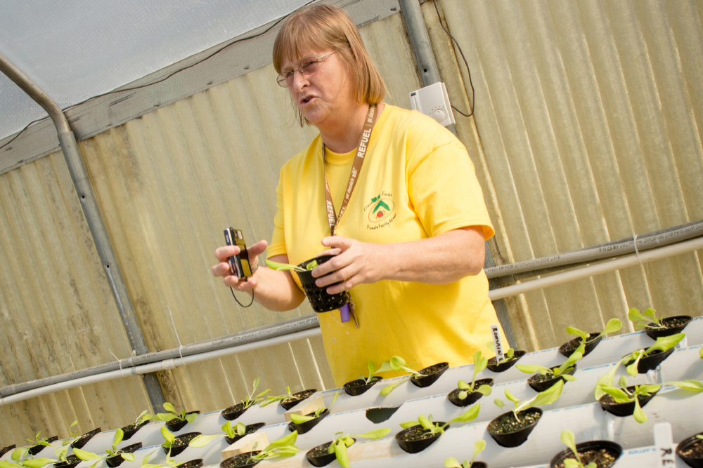 Richland Parish Child Nutrition Field Manager Beverly Grisham Gives a Talk in the Greenhouse