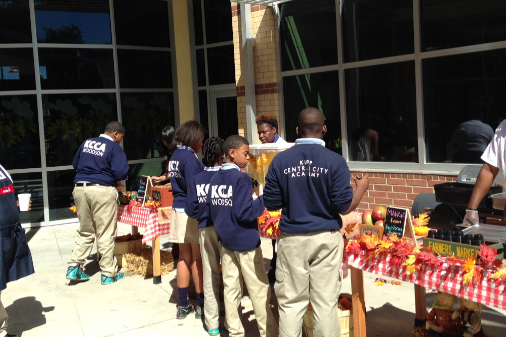 KIPP Central City Academy Farmers Market Food Tasting