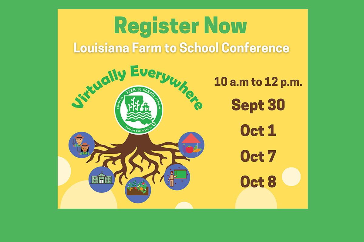 Louisiana Farm to School Conference Graphic