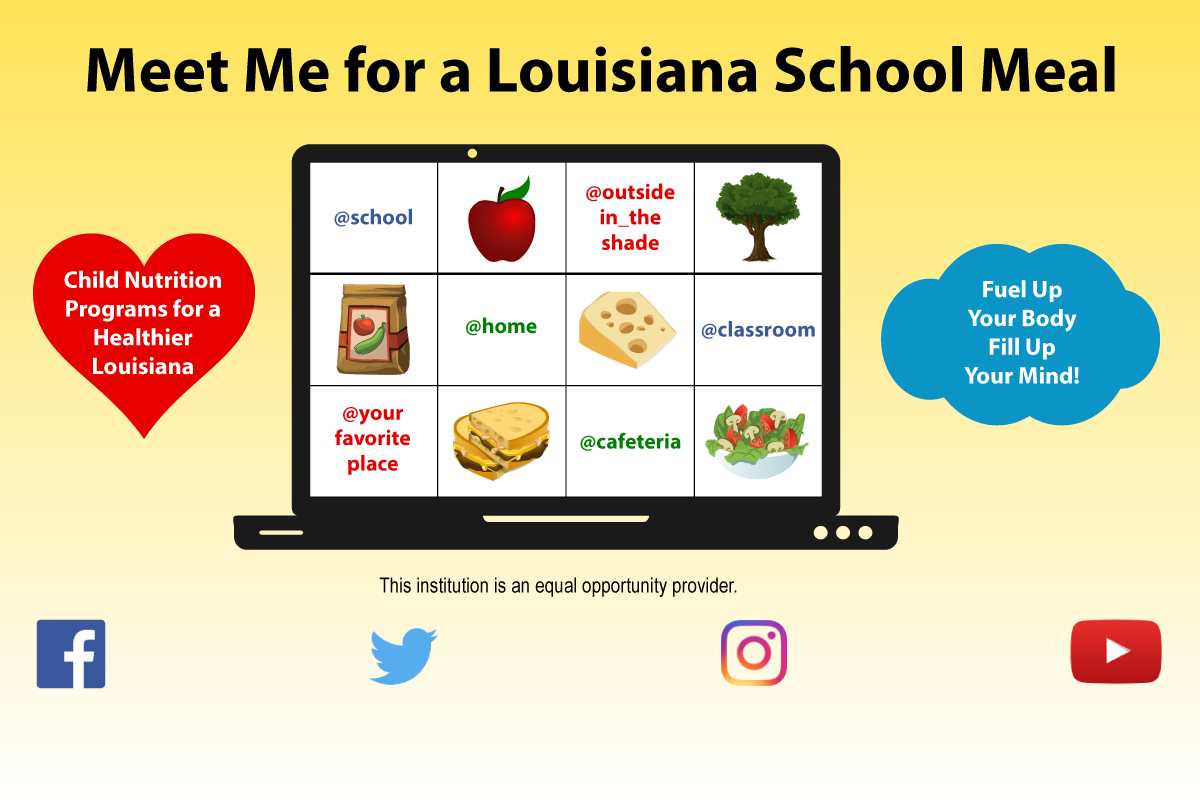 Meet Me for a Louisiana School Meal Graphic