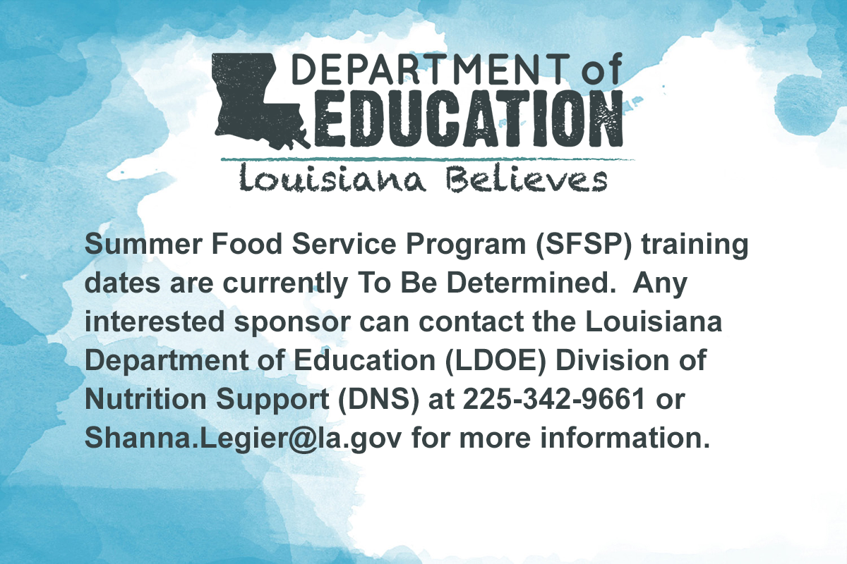 Louisiana Department of Education Message Graphic