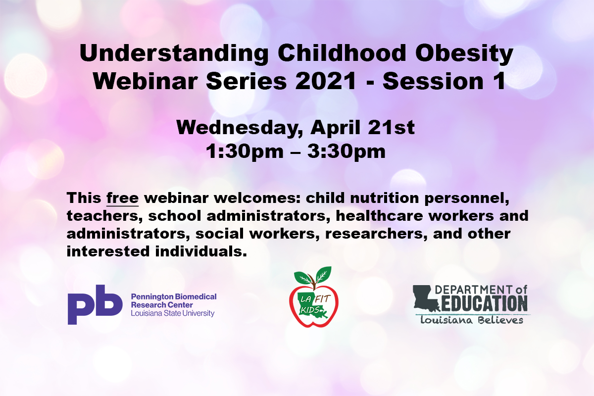 Understanding Childhood Obesity Webinar Series Part 1 Graphic