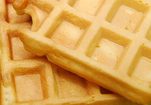 Whole Grain Waffles with Syrup Photo