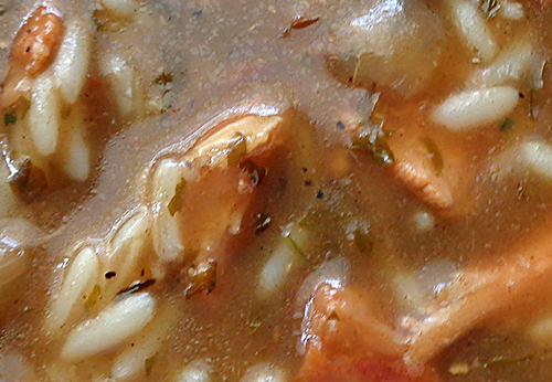 Chicken & Sausage Gumbo & Rice Photo