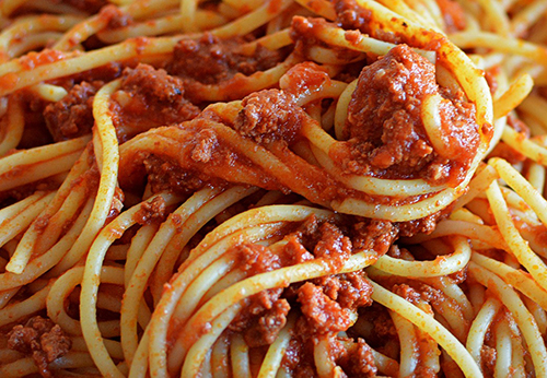 Spaghetti & Meat Sauce Photo