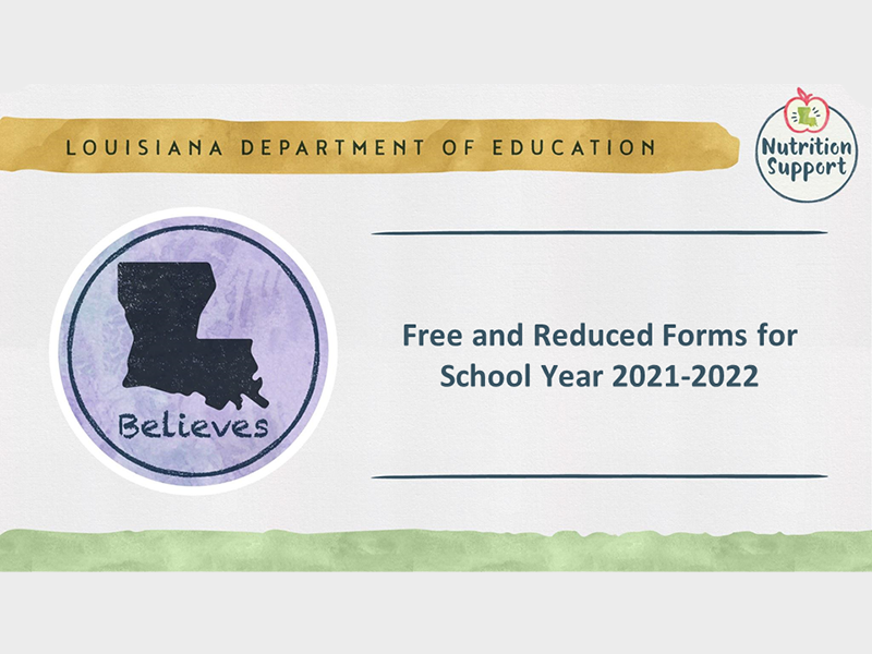 Free and Reduced Forms for School Year 2021-2022