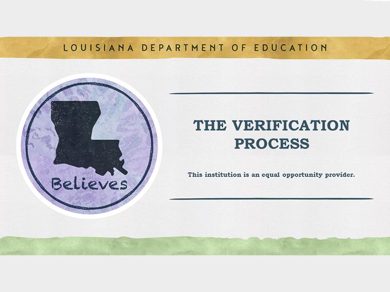 The Verification Process - October 07, 2021