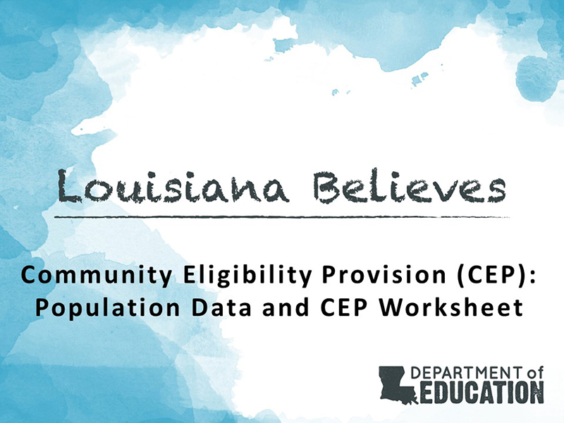 CEP Worksheet and Data 2017