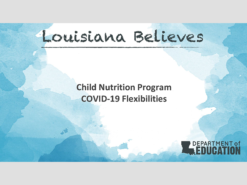 Child Nutrition Program COVID-19 Flexibilities