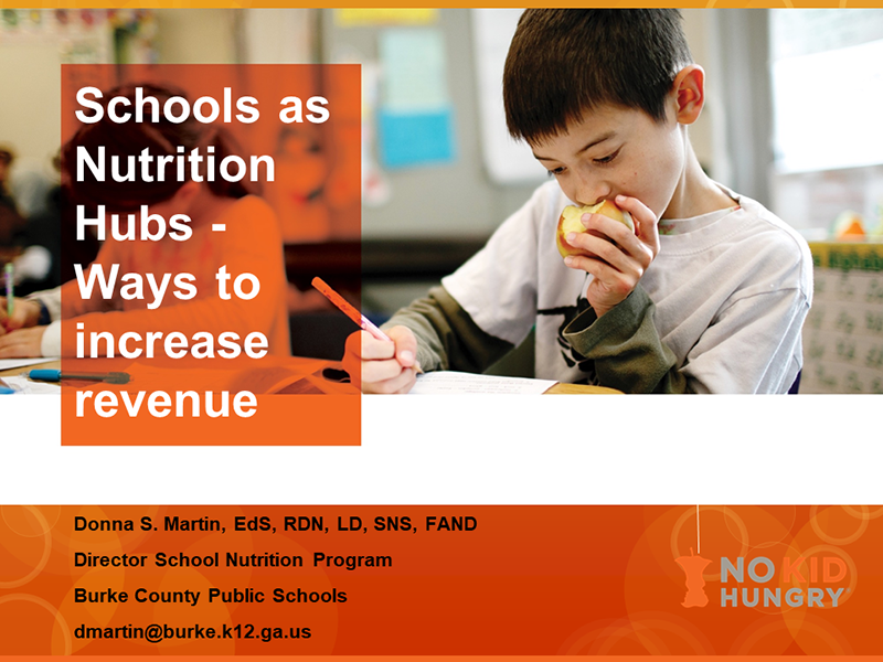 Schools as Nutrition Hubs - Ways to Increase Revenue