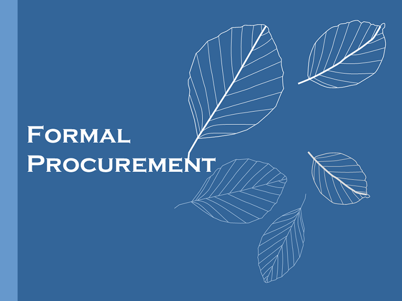 Formal Procurement