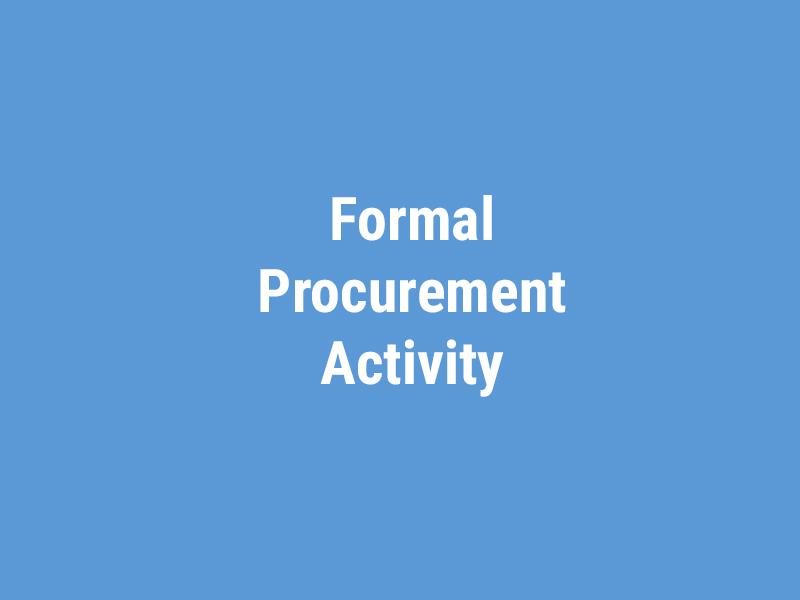 Formal Procurement Activity