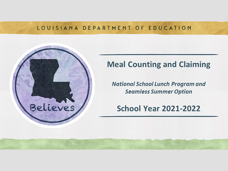 Meal Counting and Claiming - September 23, 2021