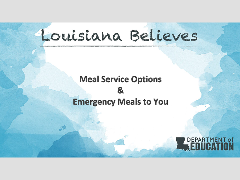 Meal Service Options & Emergency Meals to You
