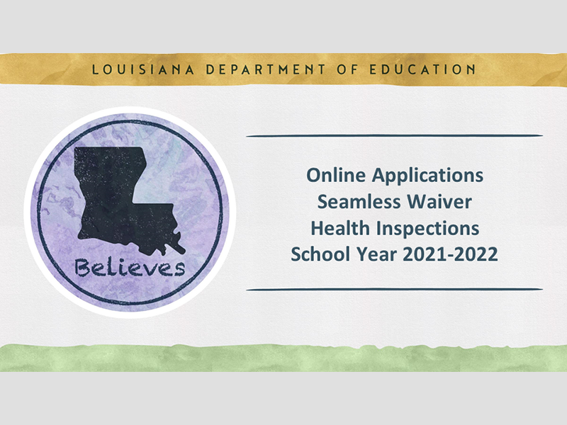 Online Applications Seamless Waiver Health Inspections School Year 2021-2022