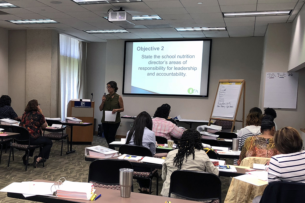 Orientation to School Nutrition Management, Baton Rouge, LA, June 4-8, 2018