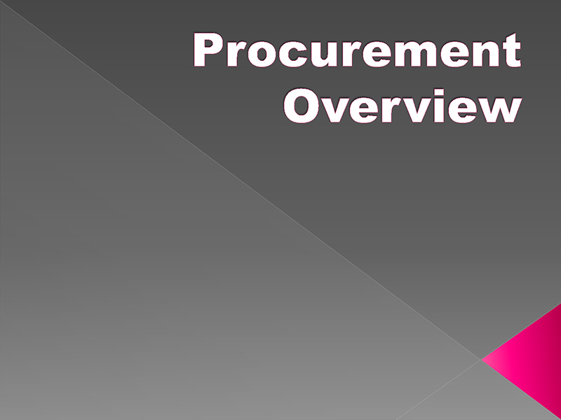 Procurement Overview