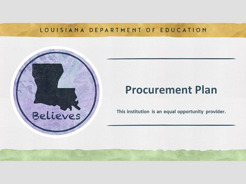The Procurement Plan