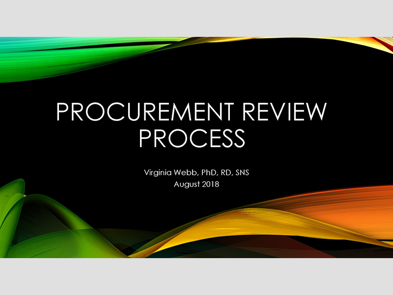 Procurement Review Process - August 2018