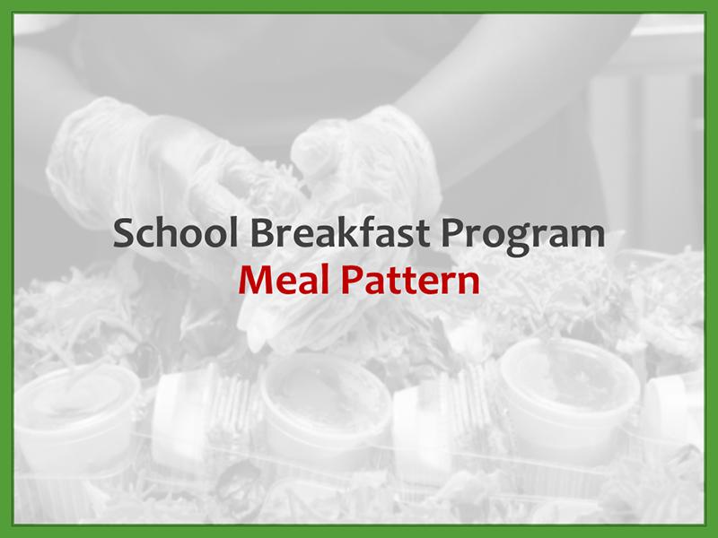 The School Breakfast Program (SBP) and Offer vs Serve (OVS) - September 24, 2021