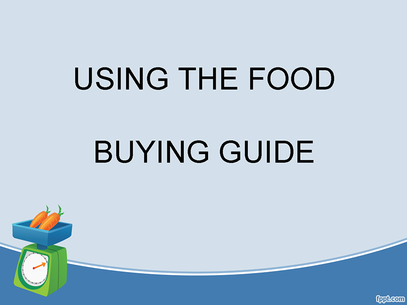 Using the Food Buying Guide