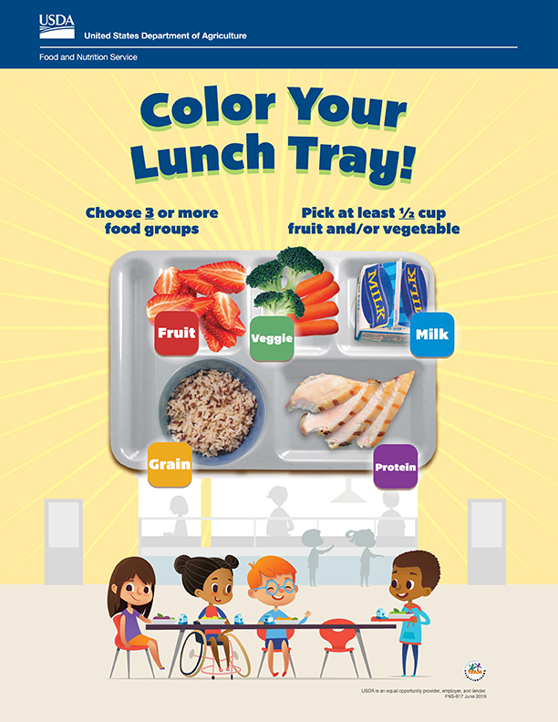 USDA Offer Versus Color Your Lunch Tray! Icon