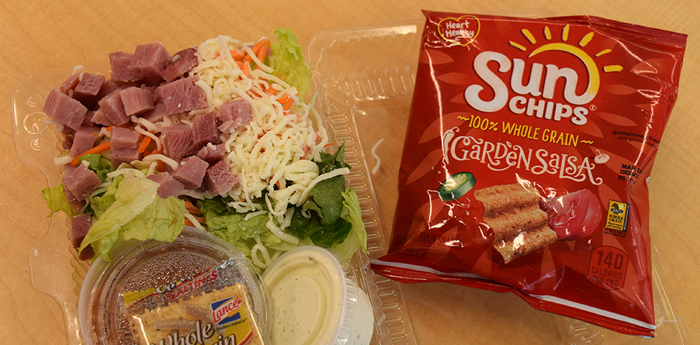 Lee High School Salad and Chips