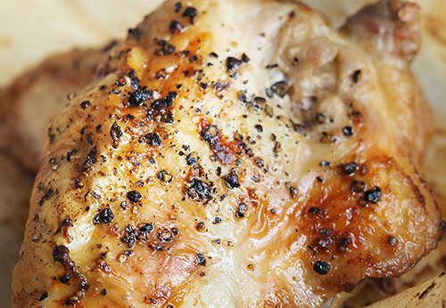 Oven Baked Chicken Thigh Photo