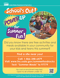 SFSP Summer Meals Flyer Icon