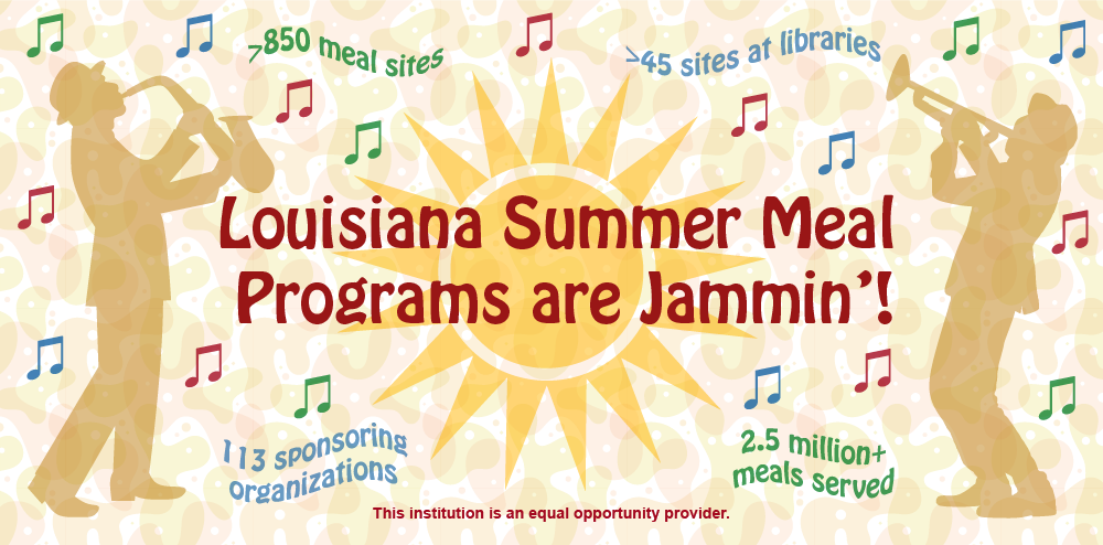 Louisiana Summer Meals 2019 Graphic