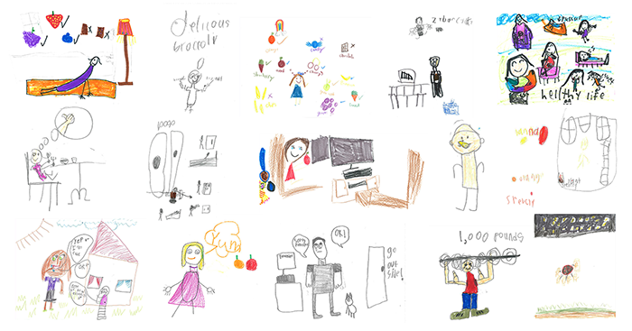 Stephensville Elementary Student Healthy Lifestyle Drawings
