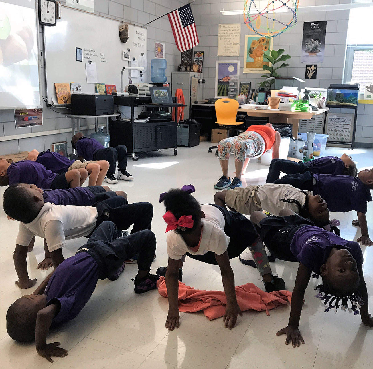 W. Smith Jr. Elementary School Yoga Time